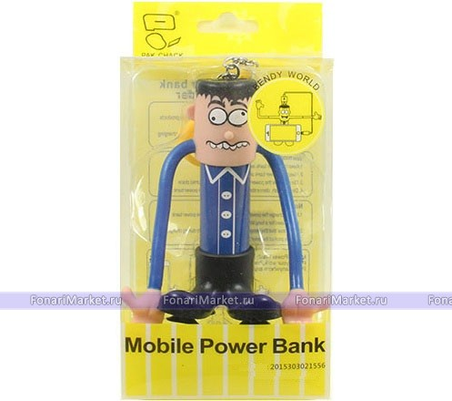 Power Bank - Внешний аккумулятор Power Bank Bendy World 2000 mAh blue