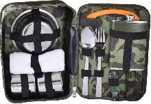 Металлическая посуда - Подарочный набор с флягой для мужчин «В камуфляжной сумке»