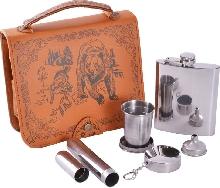 Металлическая посуда - Подарочный набор «10 Алкогольных заповедей»