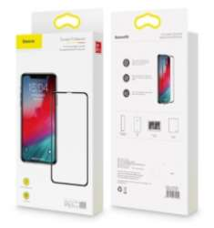 Защитные стекла Baseus - Baseus Full coverage curved tempered glass protector For iP 6.5寸 (2018) Black