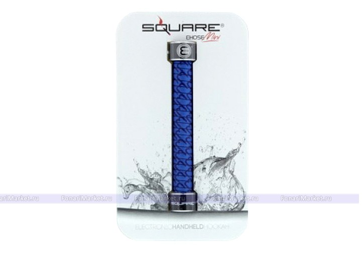 Электронные кальяны - Электронный кальян Square E-Hose Mini синий (blue)