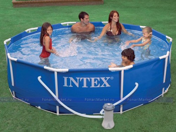 Бассейны - Бассейн Интекс (Intex) 366х99 каркасный Metal Frame Pool