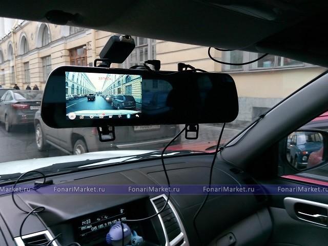 Видеорегистратор навигатор в зеркале заднего вида авторегистратор vision drive w500