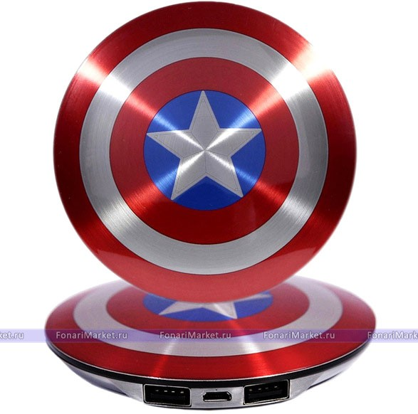 Power Bank - Внешний аккумулятор Power Bank 6800 mAh Captain America