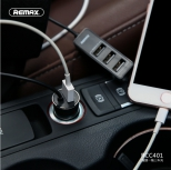 Car Charger - REMAX REEA Series Car charger with 4 usb ports RCC401